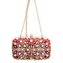bolsas de vinho Desconto Moda Wine Lovey Cristal Mulheres Clutch Bag Com Evening Bag pérola senhoras da cadeia feminina Bolsa
