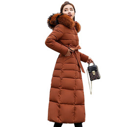 3ab6c5168f5 FANMUER 2018 Winter Jacket Women Long Thick Warm Parka Coat Women Fashion  Slim Cotton Padded fur collar outwear warm coats army furs parkas on sale