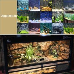 2019 placa de pano de fundo Decor Terrário 3D Espuma Rocha Reptile aquário aquário backdrop Padrão Board Lagarto Gecko Durable placa de pano de fundo barato