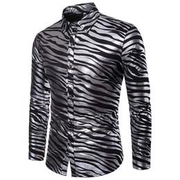 65251b723 cow shirts Promo Codes - Shirt men Street wear Sexy Club Party Fashion Hot  Shining Long