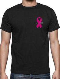 Sensibilisation au cancer du sein Taille de poche T-shirt Pin Ruban Rose Soutien gros vente d'été 100% coton de haute qualité personnalisé imprimé occasionnel ? partir de fabricateur