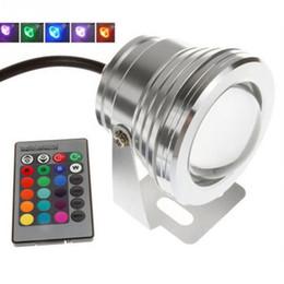 2019 ручной контроллер rgb 10 Вт 12 В RGB Подводный Светодиодный Прожектор CE / RoHS IP68 950lm 16 Цветов Изменение с Пультом для Украшения Фонтана Бассейн