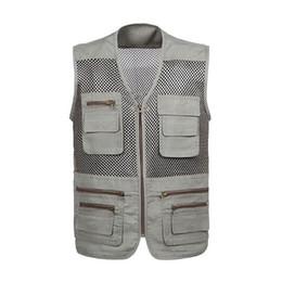 Argentina Laamei 2019 Hombres Chaleco Chaleco de malla de secado rápido Tactical Camping al aire libre Hombres Chalecos con múltiples bolsillos deportivos cheap mesh vests for men Suministro
