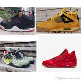 Zapatillas de baloncesto para hombre AJ 4 jumpman 4s Gato negro Denim Láser Goma vuelo aéreo retro j4 niños niños zapatillas de deporte botas con caja original desde fabricantes