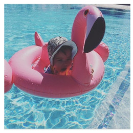rosa bambino galleggiante Sconti Gonfiabile gonfiabili per bambini Race Critters Swim Ring Baby Grembiule rosa Flamingo gonfiabile Galleggiante in piscina