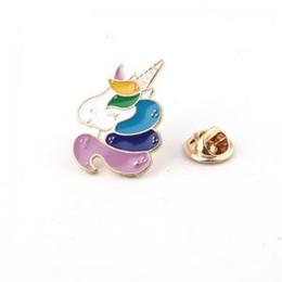 eleganti spille Sconti Colorful Unicorn Drop Oil Spilla Lega di moda Spilla Unicorno Accessori di gioielli alla moda Nuove spille popolari LJJW101