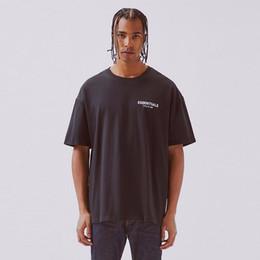 FFOG T-shirt FEAR OFF God Essentials BOXY Foto t-shirt T das mulheres dos homens de alta qualidade de algodão T-Shirt Oversize HFBYTX285 de Fornecedores de camisa preta do golfinho
