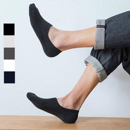 Línea muestra online-Calcetines impermeables de alta calidad Calcetines de algodón casuales resistentes al olor para hombre Calcetines antideslizantes de corte bajo Línea de barco Calcetines de agarre al por mayor