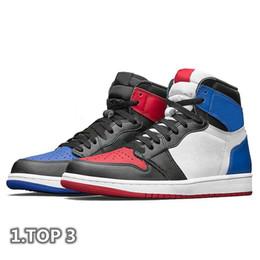 1 zapatos de baloncesto de la OG Scotts Travis Spiderman UNC 1s top 3 para hombre Homenaje a la inicio del azul real de deporte de los hombres de