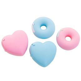 Carino amore cuore ciambella nastro Cutter Candy colore nastro adesivo organizzatore taglierina ufficio macchina di cancelleria da
