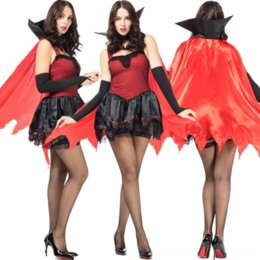 Japan anime girl cosplay on-line-2019 New Halloween Vampire Bat girl Cosplay suit exported Anime Costumes Costumes & Cosplay to Japan game uniform set