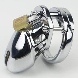 Bdsm cock rings en Ligne-Cage de coq adulte pour petit dispositif de chasteté masculine avec anneau en courbe BDSM Sex Toys Ceinture de chasteté pour homme de Bondage