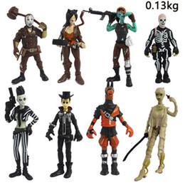2020 giochi di armi Giocattoli di plastica di azione della bambola 3,5 pollici 10 cm 8 stile personaggio dei giochi con le armi Cartoon Action Figure Battle Royale Anime Model Toy giochi di armi economici