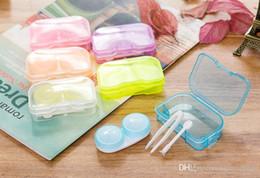 Recipientes para lentes de contato / lentes de contato, fornecidas com pinças, 6 cores na opção de Fornecedores de cílios espessos naturais