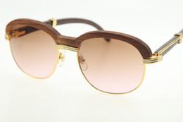 quadros roxo Desconto Atacado madeira óculos de sol quente 1116443 madeira óculos de sol unisex óculos de decoração de madeira moldura de quadro homens óculos de sol nova mistura de ouro lente marrom roxo