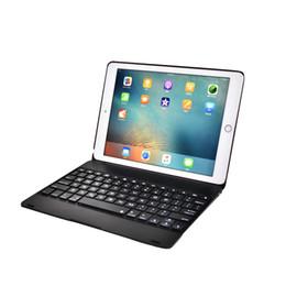 Teclado flip on-line-Dobrável teclado bluetooth case auto sono teclado sem fio para ipad pro 9.7 / air 1 / air 2/2017 2018 novo ipad full proablet flip tampa do suporte