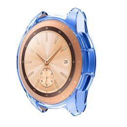 Тонкая полоса онлайн-Galaxy Watch 42mm Cover Ultra-thin TPU Smart Band Protective Case Bumper Shell Frame for Samsung Galaxy Watch 42MM SM-R810