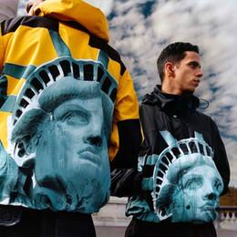 Männer-leopard-druckjacke online-19FW Statue Of Liberty Sp-Nord Pullover Jacke Printing Männer und Frauen Jacke lose Mantel Gebührenkleidung HFWPJK163