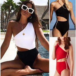 13da8b3b7eee6 Sexy Bikini 2019 Girls High Waist Bikini Push Up Swimsuit Women Solid Swimwear  Ladies Bikini Set Red Bathing Suit women clothes drop ship