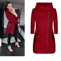 flash hoodie Rebajas Tops de invierno para las mujeres Escudo diaria del flash caliente del collar del tamaño extra grande de las mujeres de la chaqueta con capucha otoño bolsillos cuello alto