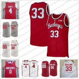 2019 split sport trikots Benutzerdefinierte Ohio State Buckeyes Basketball Jersey 1 Luther Muhammad 34 Kaleb Wesson 25 Kyle Young 23 Jaedon LeDee 13 CJ Walker S-3XL
