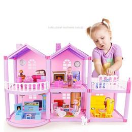 menina miniatura menina Desconto Casa de bonecas artesanal castelo diy casa de brinquedo em miniatura presentes de aniversário dollhouse brinquedos educativos boneca villa menina diy brinquedo sh190709