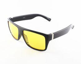 Billige gelbe sonnenbrille online-2019 New Night Brille Für Männer Gelbe Linsen Unisex Designer Square Frame Sonnenbrille 3 Rahmen Farben Günstige Großhandel