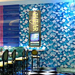 Papel de parede personalizado on-line-Papéis de parede personalizados 3d Shinning Geométrico Mosaico Rolo De Papel De Parede Para Bar Ktv Room Wall Decor Background Wallpaper Papel De Parede Para Paredes