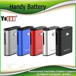 ego t clearomizers Promotion Original Yocan Handy Box Mod 500mAh Préchauffer VV Vape Batterie avec connexion magnétique vaporisateur Palm 510 cartouche d'huile épaisse 100% authentique