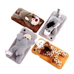 Caja del teléfono Animal lindo muñeca cubierta del teléfono móvil Mono de peluche en forma de burro accesorio de teléfono muñeca para iPhone6 / 7 / 8Plus / X / XS Max desde fabricantes