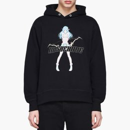 herren anime kapuzenpullis Rabatt Mens Designer Hoodies MISBHV Shibuya DruckHoodie Anime-Mädchen-Druck Hooded Sweater Fleece High Street Fashion Hoodie
