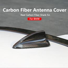 antena de fibra Desconto Fibra De Carbono Real Tubarão Barbatana Antena capa para bmw e90 e92 m3 f20 f30 f10 f34 f30 g30 m5 f16 f21 f45 f56 f01 tubarão barbatana antena tampa