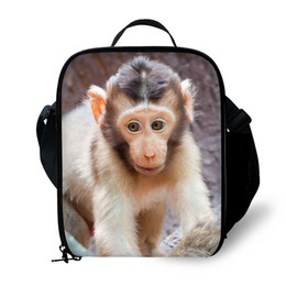 small bag monkey Coupons - Children student polyester small insulation lunch bag female picnic durable thermal box lunch box isotherm bag Animal monkey