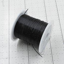 Canada Noir 10M / Rouleau Coloré Stretchy Corde Élastique Corde En Cristal Corde pour Fabrication de Bijoux Perles Bracelet Fil De Pêche Fil Corde cheap elastic thread black Offre