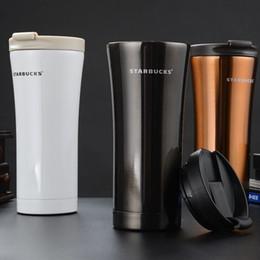 2019 protetor shaker garrafa direta direta Starbucks 500 ml Qualidade Quente de Parede Dupla de Aço Inoxidável Frascos De Vácuo Copo Térmico Do Carro Caneca De Viagem De Chá De Café Thermol Garrafa Thermocup