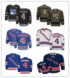 2019 Custom Any Name Number Нью-Йорк Хоккей Джерси Грин 4 Рон Грешнер Мужчины / ЖЕНЩИНЫ / МОЛОДЕЖЬ Ranger Game Worn Хоккейная майка Джерси от