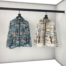Ropa de graffiti de las mujeres online-18ss Mens Designer Jackets luxury paris graffiti print mens ropa jumper manga larga Hombres Mujeres etiqueta de alta calidad Nuevo