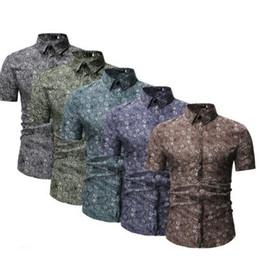 2019 camisas formais cor de rosa dos homens Mens Primavera Verão Outono Nova forma formal camisas vestido xadrez de manga curta camisas Masculino New Elegante Tops Roupa