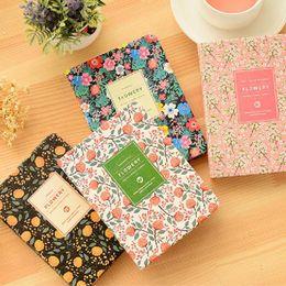 Planificador de cuaderno online-La nueva llegada linda del cuero de la PU floral de la flor Horario libro diario semanal Planificador portátil de oficina de escuela de escritorio de Kawaii