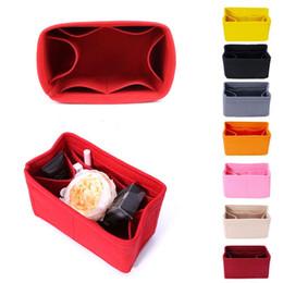Novas multifuncionais mulheres sentiram Inserir bolsa de maquiagem sacos cosméticos Viagem Interior Bolsa portátil Bolsa de armazenamento Organizer Tote S / M / L de