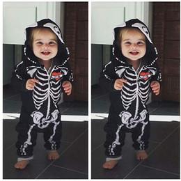 botas de naruto Rebajas Bebé niños del traje de Halloween del niño del hueso del cráneo del mono bebé recién nacido Cosplay capucha Romper Horror cráneo del bebé de la cremallera del mono