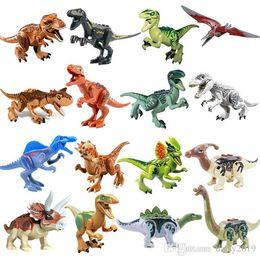 2019 brinquedos para 13 anos meninos Conjunto de blocos de construção de dinossauro jurássico Figura de brinquedo Indoraptor Velociraptor Triceratop Indomirus Mundo T-Rex YG77001