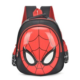 Mochilas cool chicos online-2018 Hot 3d Cartoon Spider Man Niños Mochila Escolar Estudiantes Mochila Impermeable Niños Cool Boy Bolsa de Papelería de Viaje Regalo para Niños Y190601
