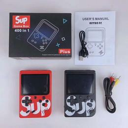 2019 romantik curl haare SUP Mini Handheld Spielkonsole Plus Tragbare Nostalgie 8 Bit 400 in 1 FC Spiele LCD Display Spiel Player PK PAP PXP3 Großhandel günstig romantik curl haare