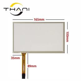 Navegação gps original on-line-Thani Original novo de 7 polegadas touch screen resistência 4-wire painel de toque de navegação do carro DVD / GPS tela 165 * 100mm frete grátis + ferramentas