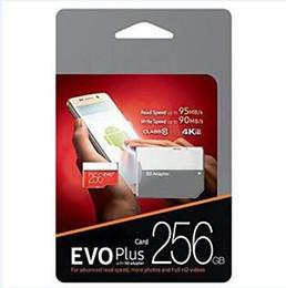 Canada 2019 Meilleures ventes Black EVO Plus Carte mémoire 64 Go 32 Go 128 Go 256 Go 100 Go / s (U3) avec adaptateur SD gratuit Pack blister Vitesse rapide cheap fast sd cards Offre