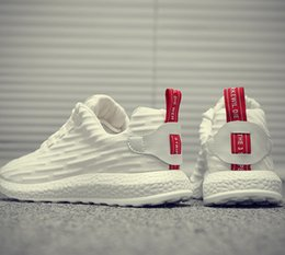 Hombre corriendo coreano online-Chao moda de Corea 2019 nuevo otoño zapatilla de deporte de los zapatos corrientes de los hombres casual zapatos blancos zapatos transpirables Joker Chao deportes