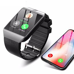Tarjeta iphone 2g online-Bluetooth Smart Watch Smartwatch DZ09 Android Llamada de teléfono Relogio 2G GSM SIM Tarjeta de cámara para iPhone Samsung HUAWEI PK GT08 A1