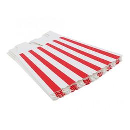 бумажная подарочная коробка 24 шт. красная полоса бумаги фильм день рождения угощение закуска конфеты коробки попкорн контейнер рождественская вечеринка от