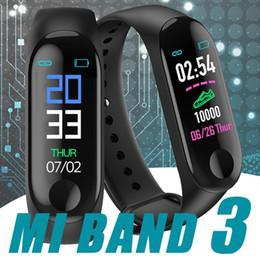 Precios de rastreadores de fitness online-precio de fábrica M3 SmartBand rastreador de ejercicios pulsera inteligente de la presión arterial monitor de ritmo cardíaco banda inteligente impermeable PRO pulsera de banda inteligente